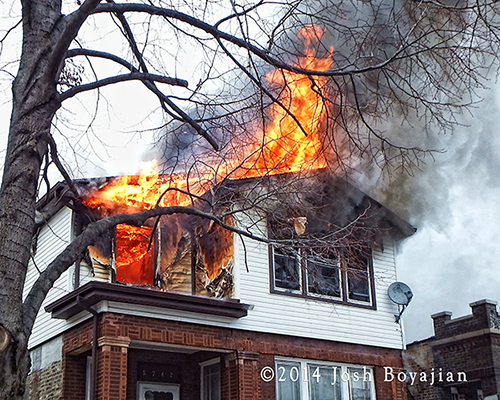 fire guts the 2nd floor of a house