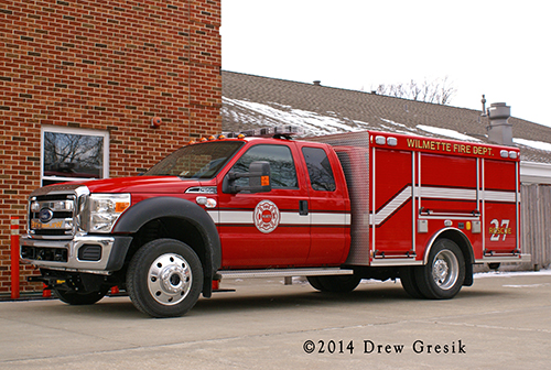 New rescue unit for the Wlmette Fire Department.