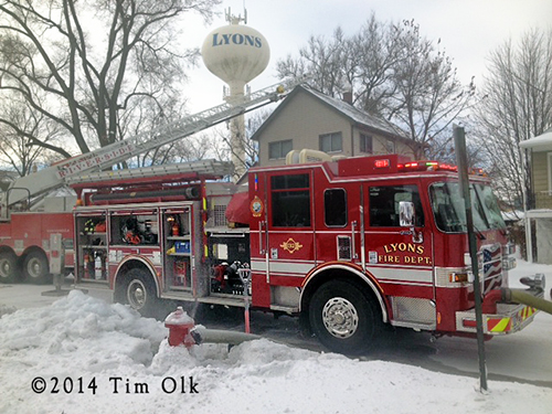 Lyons Fire Department battles house fire in sub zero temperatures