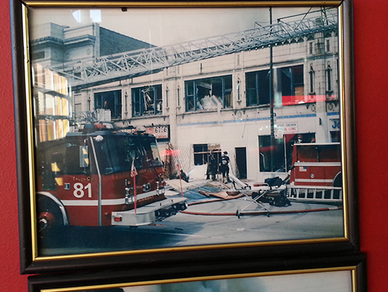 photos from the set of the Chicago Fire TV show