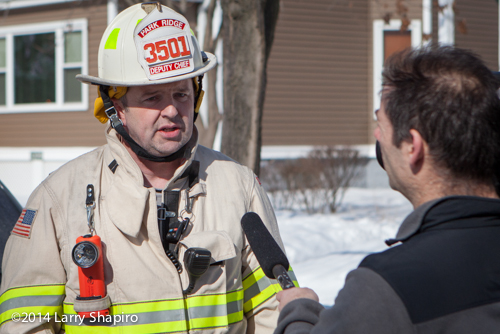 fire chief talking to the media