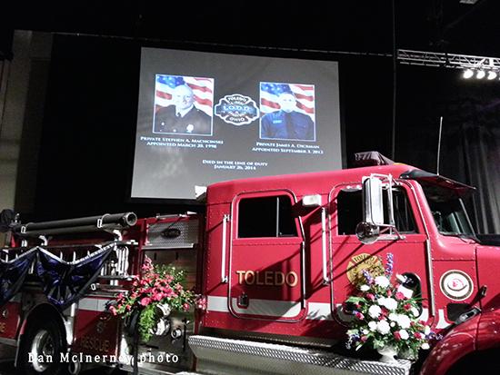 memorial service for fallen Toledo firefighters