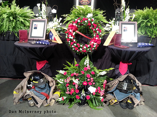 memorial service for fallen Toledo firefighters