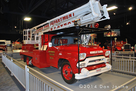 Chicago's first Snorkel fire truck