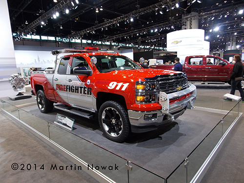 Chevy pickup for firefighters