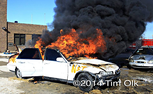 car fire training for firefighters