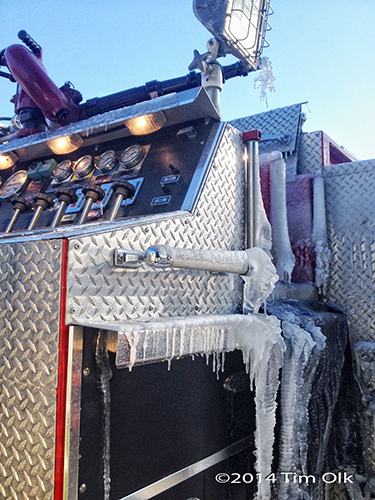 ice on fire engine