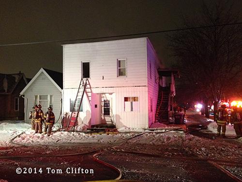 fire scene in Toledo