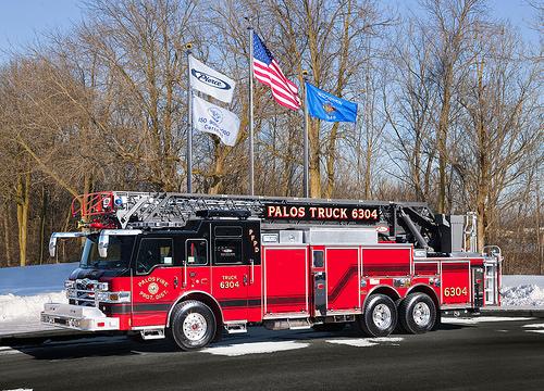 Pierce Velocity aerial ladder truck