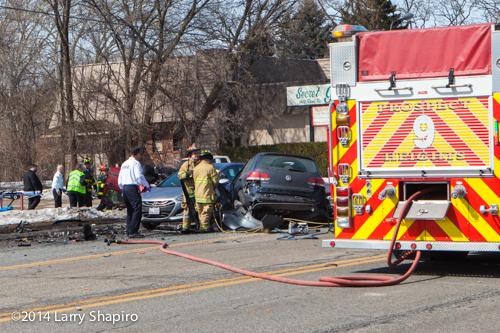 multiple cars wrecked drink crash