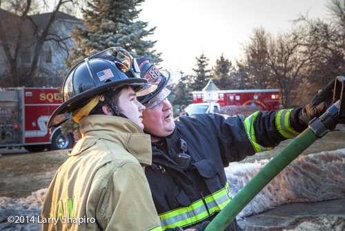 rookie firefighter gets instructions
