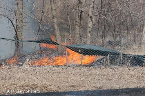 wind fueled grass fire