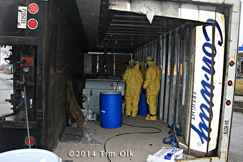 hazardous materials scene