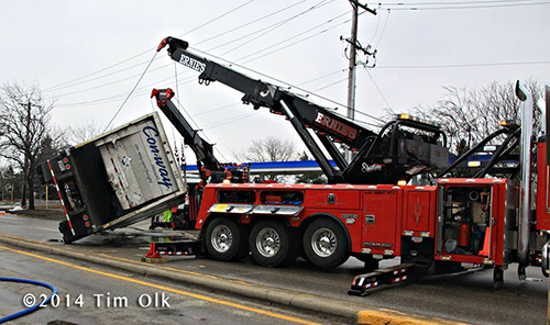 heavy wrecker tow trucks upright truck trailer