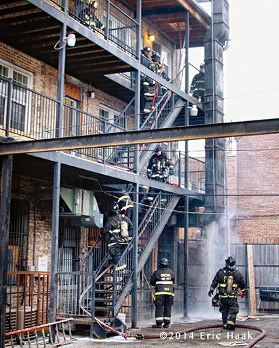 Chicago firefighters at scene