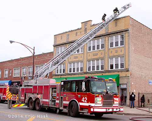 Chicago FD Spartan aerial ladder truck