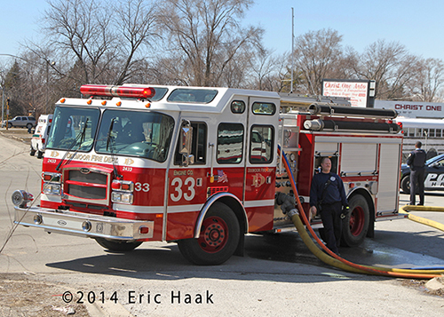 E-ONE Typhoon fire engine at fire scene