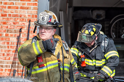 chief fire officer at fire scene
