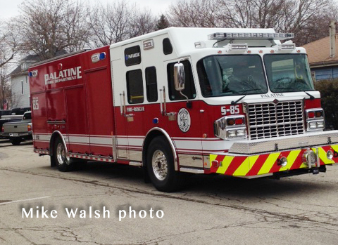 new fire truck for Palatine FD