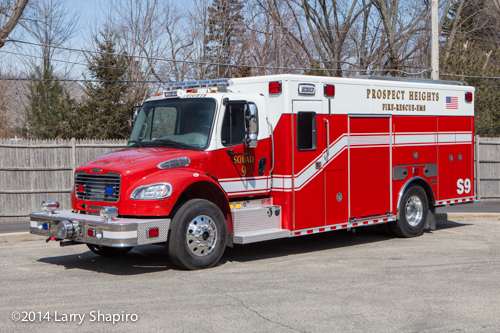 new fire truck for Prospect Heights FD in IL