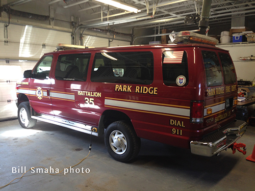 fire department Ford Econoline van
