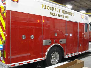 fire truck being built for the Prospect Heights Fire District