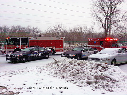fire trucks in winter