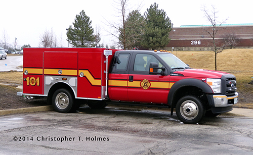 fire departmetn brush truck