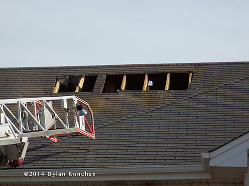 roof after fire