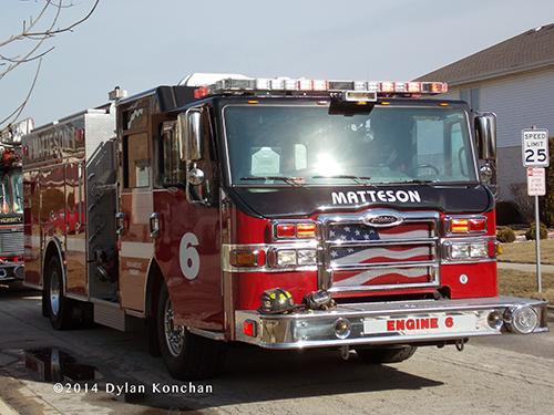 Pierce fire engine