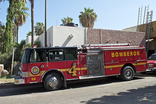 US fire engine in Mexico