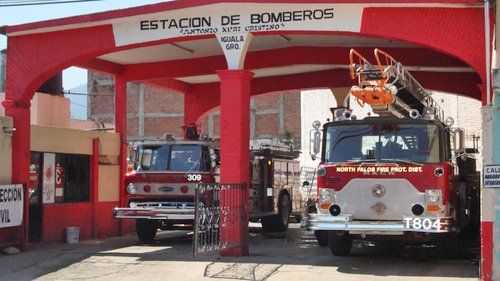 US fire trucks in Mexico