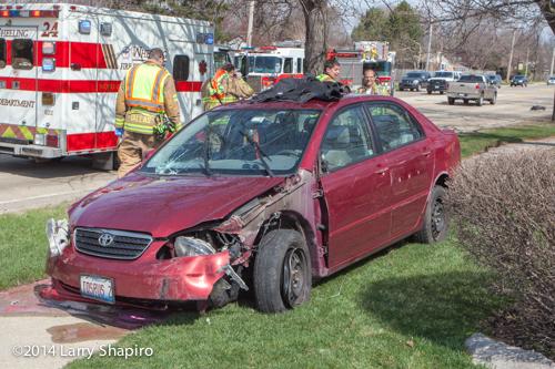 Toyota Corolla wrecked