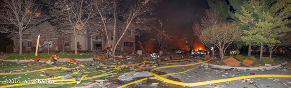 gas explosion levels mansion