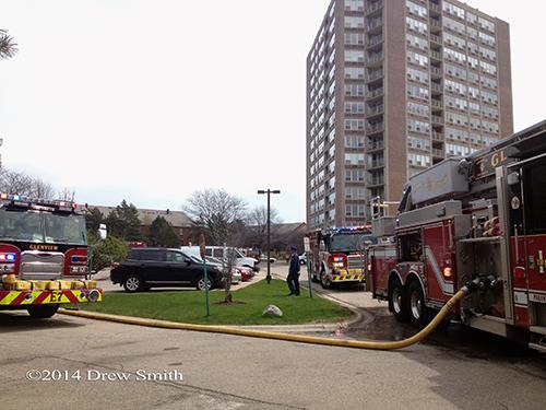 fire trucks at scene
