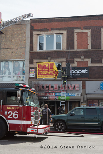 Chicago fire scene