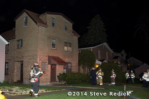 firemen working at night