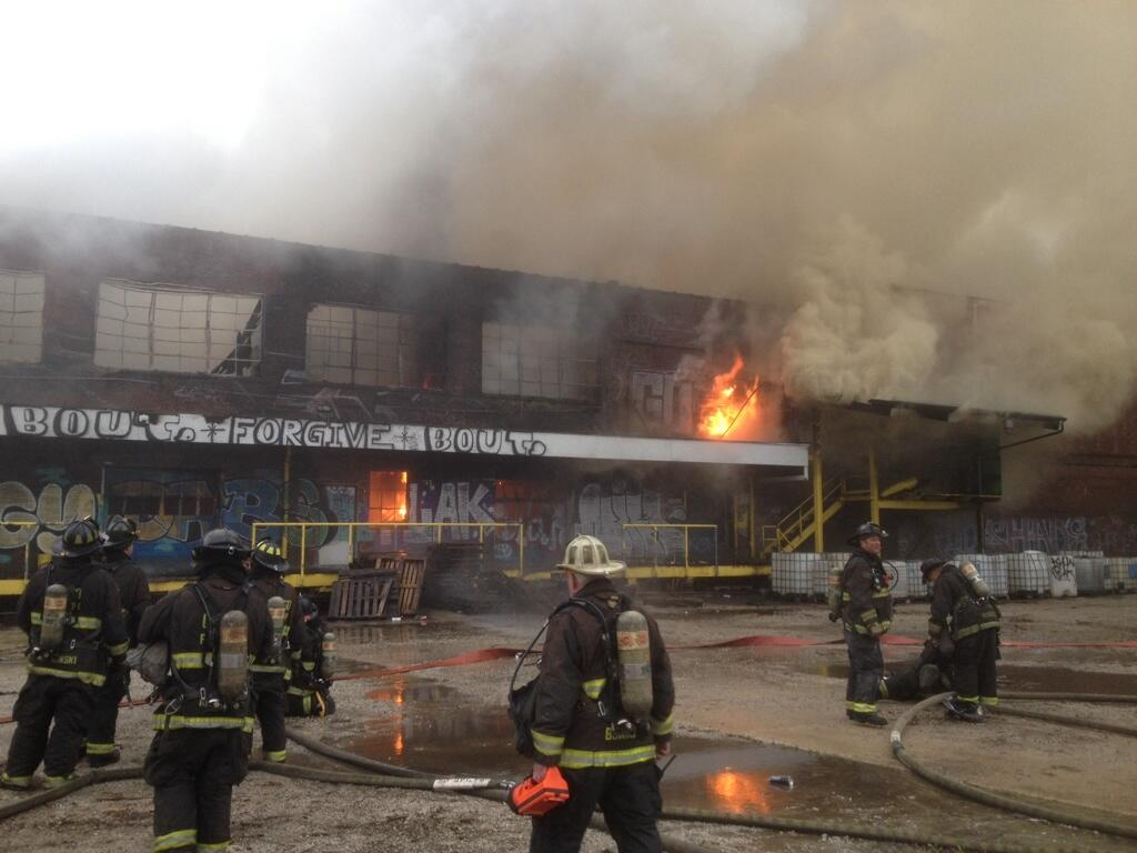 extra alarm fire in Chicago