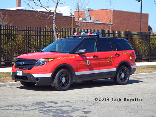 Chicago fd light bar with blue lights chicagoareafire fire department ford explorer aloadofball Image collections