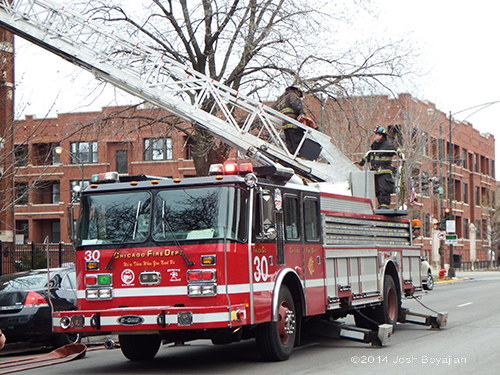 E-ONE aerial ladder truck