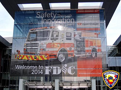 Rosenbauer American fire truck banner