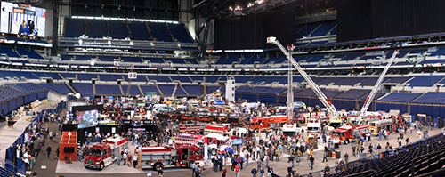 fire truck trade show exhibit hall