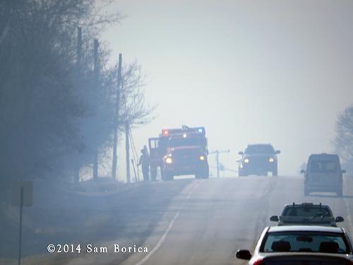 heavy smoke from grass fire