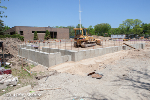 foundation for new fire station