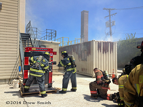 firefighter recruits in training