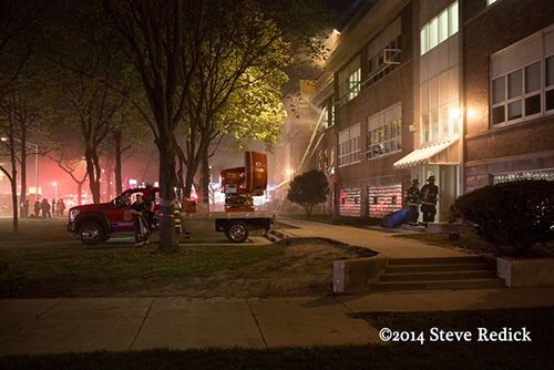 fire at proviso East High School