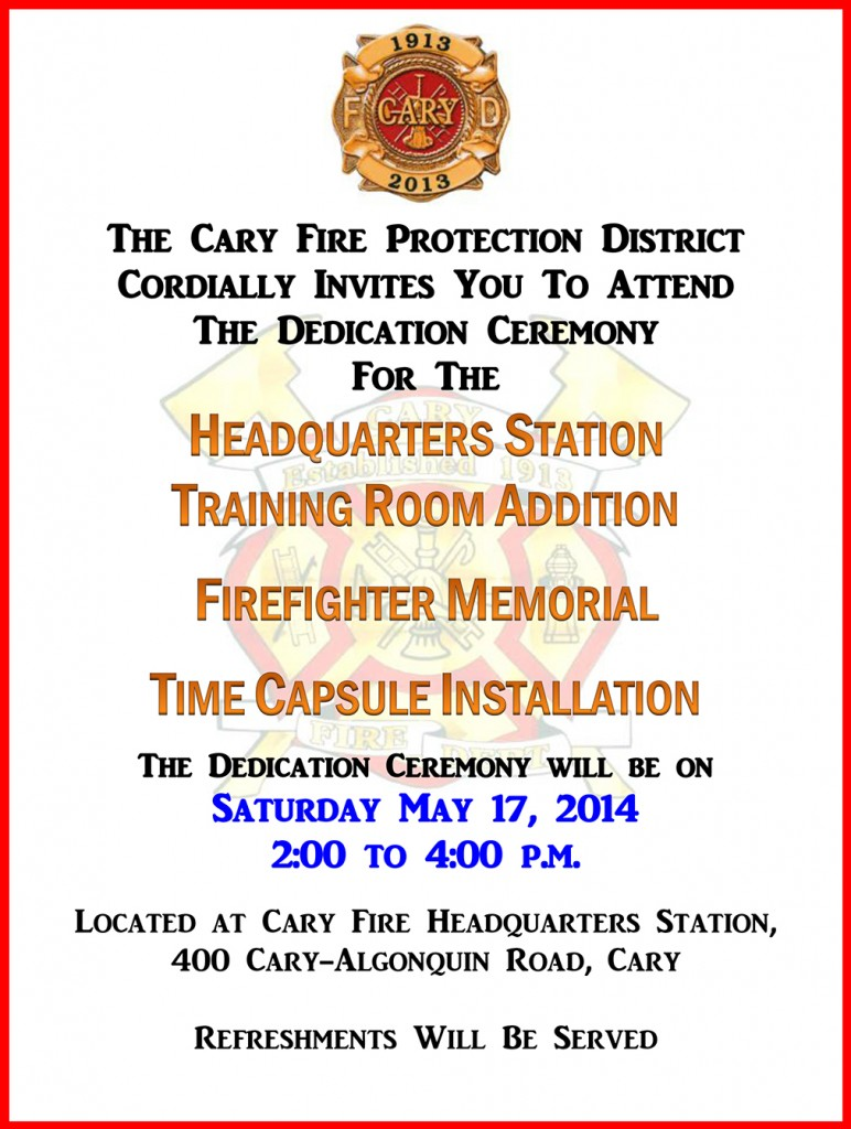 Cary Fire District Dedication Ceremony