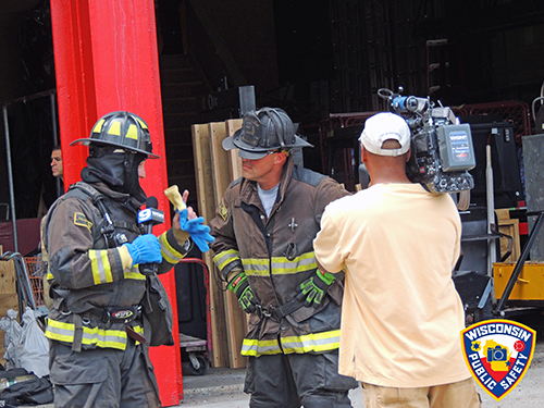 media reporters experience firefighting