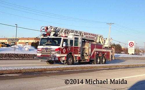 fire truck driving