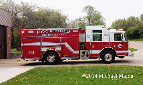 Rockford FD Pierce PUC fire engine